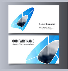 Business card template creative corporate vector