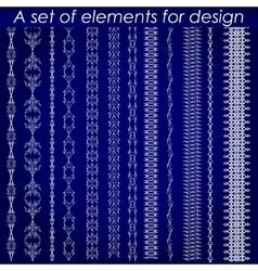 Calligraphic design elements 1 - set vector image