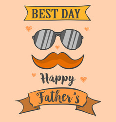 card best dad for father day vector image