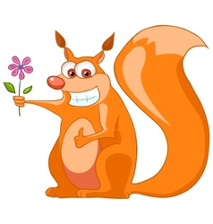 cartoon character squirrel vector image