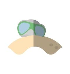 Cartoon glasses sun lenses beach shadow vector