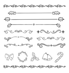 Christmas holiday drawing design decoration vector