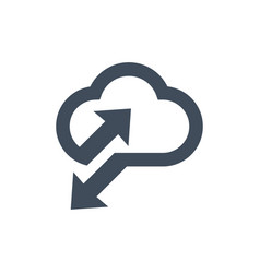 cloud data sync icon for apps and websites vector image