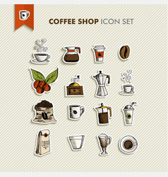 Coffee shop icons set vector image