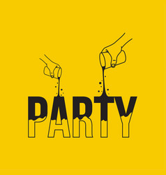 concept of cocktail party vector image