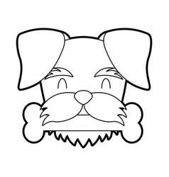 Cute dog mascot with bone vector