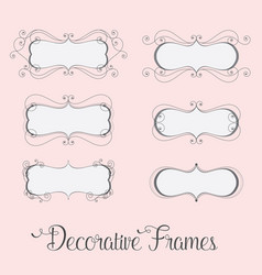 decorative label frames vector image