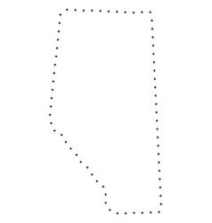 Dot stroke alberta province map vector