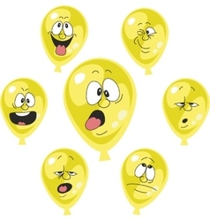 Emotion yellow balloon set 002 vector