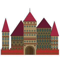 fabulous castle vector image