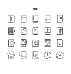 fridge ui pixel perfect well-crafted thin vector image