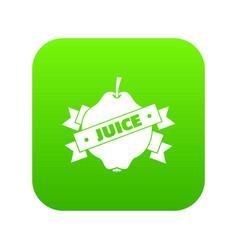 fruit juice icon green vector image