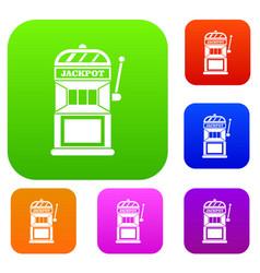 gamble machine set collection vector image
