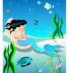 gentle mermaid vector image