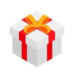 Gift box isometric 3d icon vector