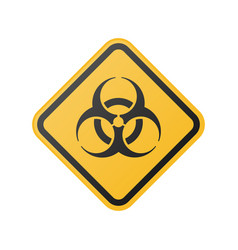 glossy biohazard sign vector image