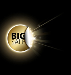 golden sale vector image