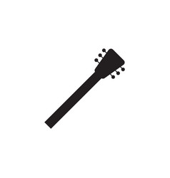 guitar neck icon design template isolated vector image
