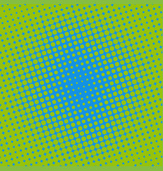 halftone dots on green background vector image