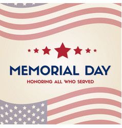 Happy memorial day papper banner vector