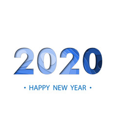 happy new year 2020 backgroun vector image