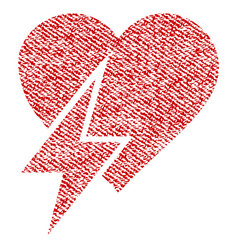 Heart shock fabric textured icon vector