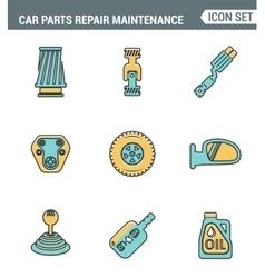 icons line set premium quality car parts repair vector image