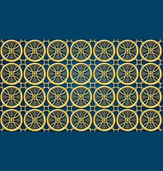 islamic pattern ramadan background gold material vector image
