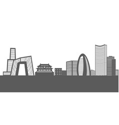 Isolated beijing cityscape vector