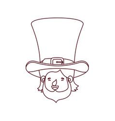 leprechaun head with hat avatar character vector image