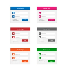 Login forms vector image