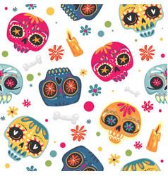 mexican holiday day dead dia de los vector image