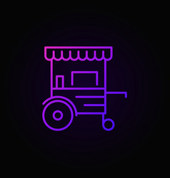 mobile cart colorful line icon - wheel vector image