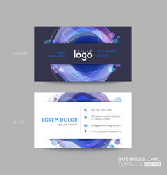 modern dark blue business card design vector image