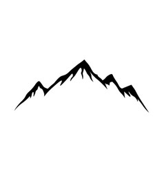 mountain shapes for logo silhouette vector image
