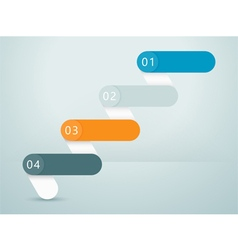 Number Steps 3d Infographic 1 to 4 C vector image