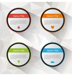 Options polygonal background set vector image