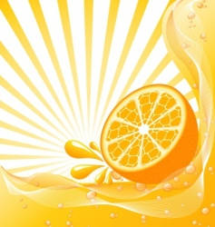 orange background with a sun vector image