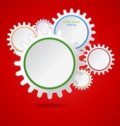 Paper cogwheel vector