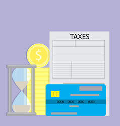 Paying taxes with credit card vector
