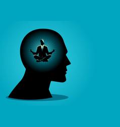 peaceful mind vector image