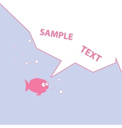 Pink Cartoon Fish vector image