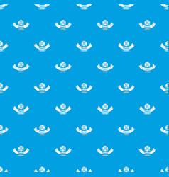 pirate saber pattern seamless blue vector image
