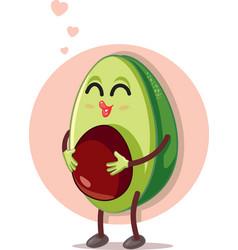 Pregnant avocado cartoon vector