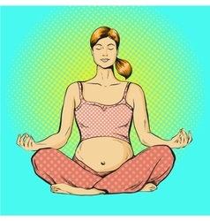 pregnant woman practicing vector image