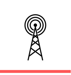 radio tower icon for web or mobile app vector image