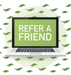 refer a friend concept can use for landing page vector image