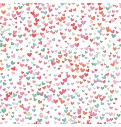 Romantic pink and blue heart pattern vector image