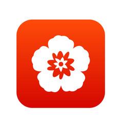 rose of sharon korean flower icon digital red vector image