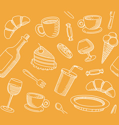 seamless background that a cafe theme vector image